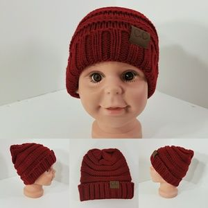 Other - Baby Beanie hats thermal protective  Dark Red